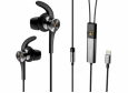 Стереогарнитура для iPhone и iPad 1MORE E1004 Dual-Driver LTNG ANC In-Ear Headphone цвет черный (1MEJE0020)