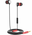 Наушники Hoco Common Headphone With Mic с микрофоном цвет red EPM01