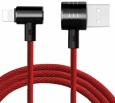 Универсальный кабель Baseus T-type Magnet Cable(Side insert) Lightning+Micro Two-in-one цвет красный/black (CALTX-A09)