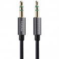 Кабель AUX 3.5mm Rock Audio Cable 2m, цвет черный/space grey (RAU0509)