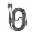 Кабель RAVPower Fast Charger 2-in-1 USB C to USB A/USB C Cable 1.8 m, цвет серый (RP-TPC006)