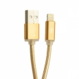 Кабель USB - Lightning COTEetCI M10 NYLON series 2.0 м, цвет Золотистый (CS2115-2M-GD)