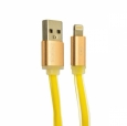 Кабель USB - Lightning COTEetCI M16 Jelly series 1 м, цвет Желтый (CS2123-YL)