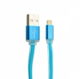 Кабель USB - Lightning COTEetCI M16 Jelly series 1 м, цвет Голубой (CS2123-BL)