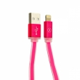 Кабель USB - Lightning COTEetCI M16 Jelly series 1 м, цвет Розовый (CS2123-MR)