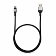 Кабель Lightning - USB Adam Elements PeAk Cable 120B, цвет черный/grey (ACBAD120MBFR3GY)