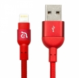 Кабель Lightning - USB Adam Elements PeAk Cable 200B, цвет красный/red (ACBAD200MBFR3RD)