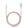 Кабель Lightning - USB Adam Elements PeAk Cable 300B, цвет розовый/rose gold (ACBAD300MBFR3RG)