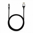 Кабель Lightning - USB Adam Elements PeAk Cable 300B, цвет черный/grey (ACBAD300MBFR3GY)