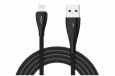 Кабель USB - Lightning Rock Metal Data Cable 0.3 м (RCB0485) цвет Black