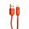 Кабель USB - Lightning COTEetCI M7 Lightning + Breathe Light Jelly series 1.2 м, цвет Красный (CS2083-RD)