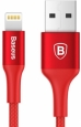 Кабель Lightning - USB Baseus Rui Series (1 м), цвет красный/red (CALDR-09)