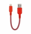 Кабель USB/Lightning для iPhone и iPad EnergEA Nylotough Lightning Cable (0.16 м) цвет красный (CBL-NT-RED016)
