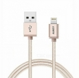Кабель USB - Lightning Aukey MFi 8 pin Sync and Charging Cable 1.2 м, цвет золотистый (CB-D16 gold)