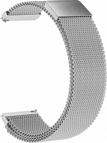 Металлический ремешок для Samsung Gear Sport/S2 Classic/Galaxy Watch (42 mm)/ Watch Active GSMIN Milanese Loop 20 цвет серебристый BT019299 – фото 35122.41