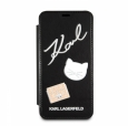 Чехол-книжка для iPhone X/XS Karl Lagerfeld Embossed Pins Booktype PU цвет черный KLFLBKPXPPIN – фото 23859.47