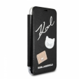 Чехол-книжка для iPhone X/XS Karl Lagerfeld Embossed Pins Booktype PU цвет черный KLFLBKPXPPIN – фото 23859.48