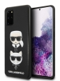 Чехол-накладка для Samsung Galaxy S20+ Lagerfeld PU Leather Karl and Choupette Hard, цвет черный (KLHCS67KICKC)