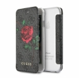 Чехол для iPhone 7/8/SE (2020) Guess Flower Desire 4G Booktype, цвет серый (GUFLBKI84GROG)