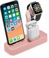 Док-станция для iPhone/AirPods/Apple Watch COTEetCI Base19, цвет розовый (CS7201-MRG)