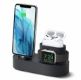 Док-станция для iPhone, Apple Watch и AirPods Pro Elago 3-in-1 Charging hub, цвет black (EST-TRIOPRO-BK)