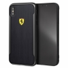 Чехол-накладка для iPhone XS Max Ferrari On-track Racing Shield Printed Carbon Effect Hard, цвет черный (FESPCHCI65CBBK)