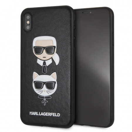 Чехол-накладка для iPhone XS Max Lagerfeld PU Leather Karl and Choupette Hard цвет черный KLHCI65KICKC – фото 31776.41