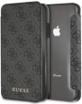 Чехол-книжка для iPhone X/XS Guess 4G Charms collection Booktype, цвет серый (GUFLBKPXGF4GGR)
