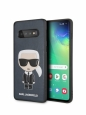 Чехол-накладка для Samsung Galaxy S10 Lagerfeld PU Leather Iconic Karl Hard, цвет синий (KLHCS10IKPUBL)