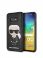 Чехол-накладка для Samsung Galaxy S10e Lagerfeld PU Leather Iconic Karl Hard, цвет черный (KLHCS10LIKPUBK)