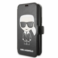 Чехол-книжка для iPhone 11 Pro Lagerfeld PU Leather Iconik Karl Booktype stand цвет черный KLFLBKSN58FIKPUBK – фото 38457.47