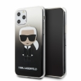 Чехол-накладка для iPhone 11 Pro Lagerfeld TPU/PC collection Karl Iconik Hard Gradient, цвет черный (KLHCN58TRDFKBK)