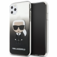 Чехол-накладка для iPhone 11 Pro Max Lagerfeld TPU/PC collection Karl Iconik Hard Gradient, цвет черный (KLHCN65TRDFKBK)