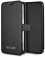 Чехол-книжка для iPhone X/XS Guess Iridescent Booktype PU, цвет черный/black-black (GUFLBKPXIGLBK)