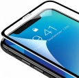 Защитное стекло для iPhone XS Max Baseus 0.3mm Rigid-edge curved-screen tempered glass, цвет черный (SGAPIPH65-AJG01)