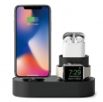 Док-станция для iPhone, AirPods и Apple Watch Elago 3-in-1 Charging hub, цвет black (EST-TRIO-BK)