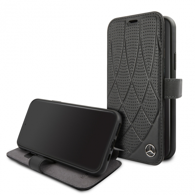Чехол-книжка для iPhone 11 Mercedes Bow Quilted
