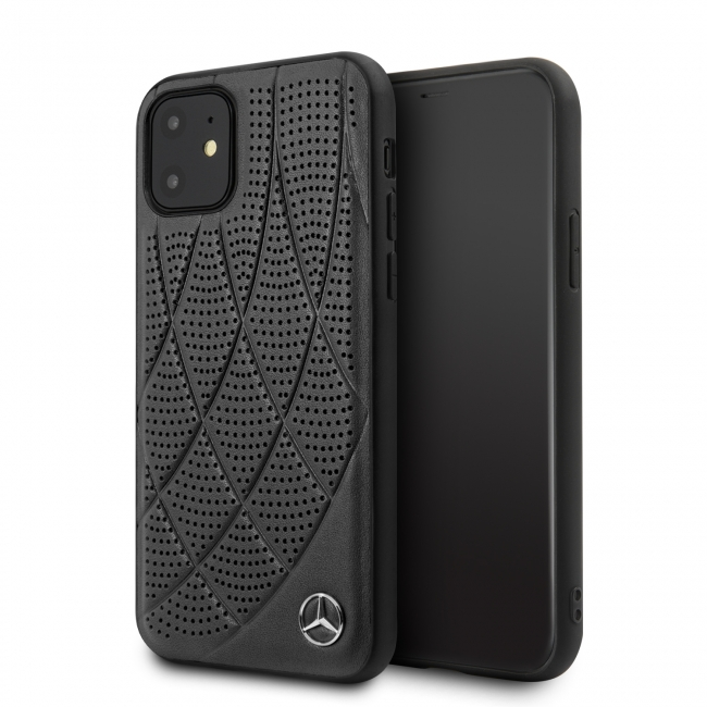 Чехол для iPhone 11 Mercedes Bow Quilted/perforated Hard Leather