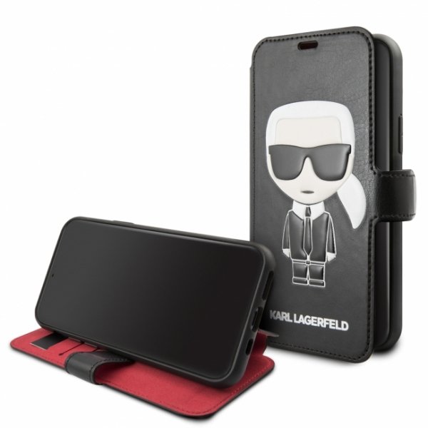 Чехол-книжка для iPhone 11 Pro Lagerfeld PU Leather Iconik Karl Booktype stand